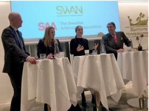 Mikael Wahlgren participated by the end of October as a panelist at SWAN and the Swedish Arbitration Association co-organized a seminar on Third-Party Financing of disputes at the SCC